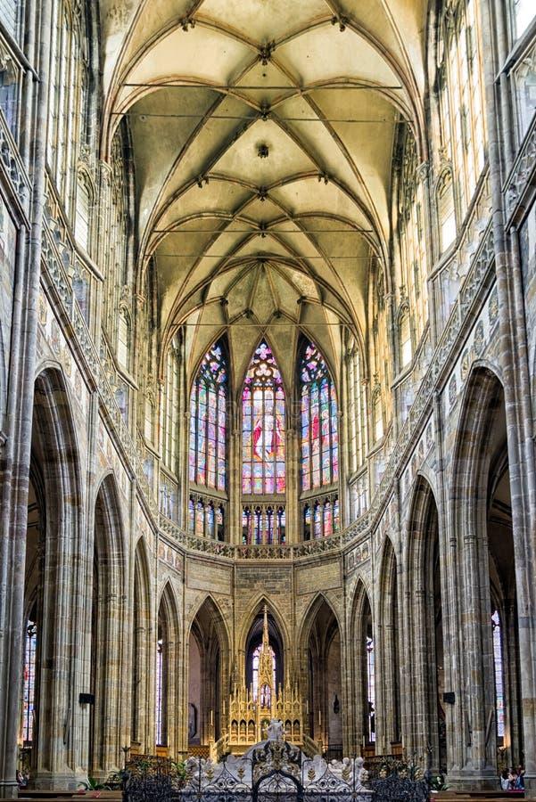 Heilige Vitus Cathedral in Praag, Tsjechische Republiek stock fotografie