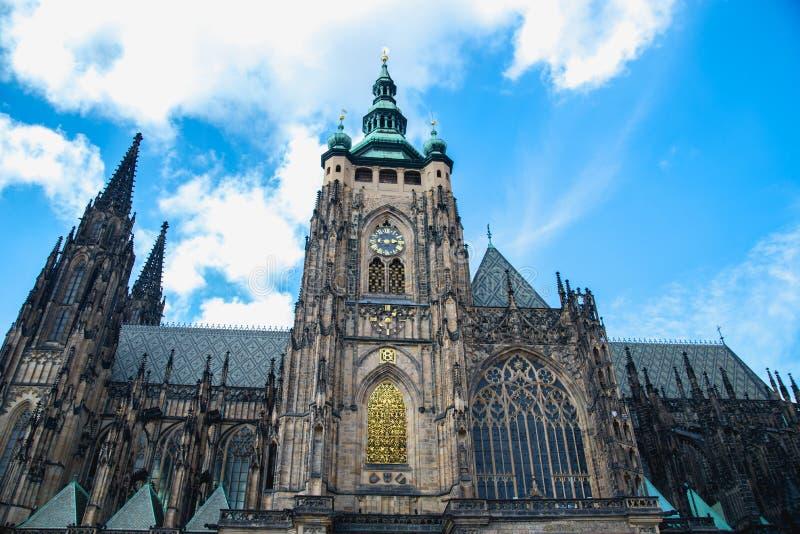 Heilige Vitus Cathedral in Praag, Tsjechische Republiek stock afbeeldingen
