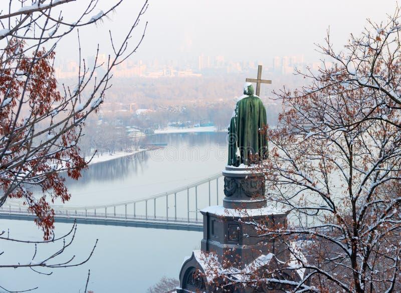 Heilige Vladimir Monument in Kiev stock foto's