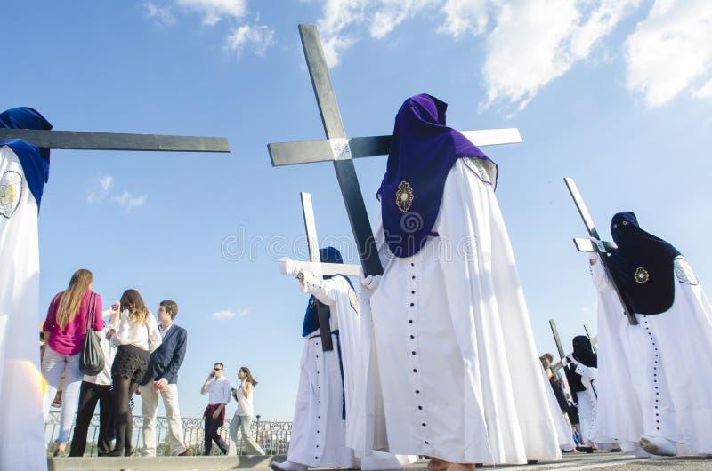 Heilige Week Engels Sevilla stock afbeelding