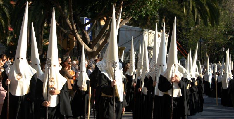 Heilige week, Malaga, Spanje stock fotografie