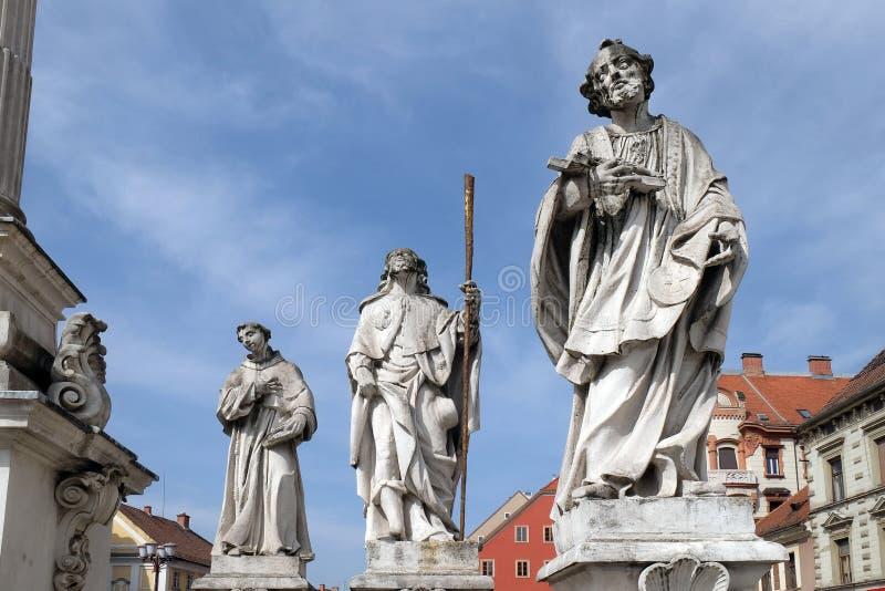 Heiligen Anthony van Padua, Roch en Francis Xavier royalty-vrije stock foto
