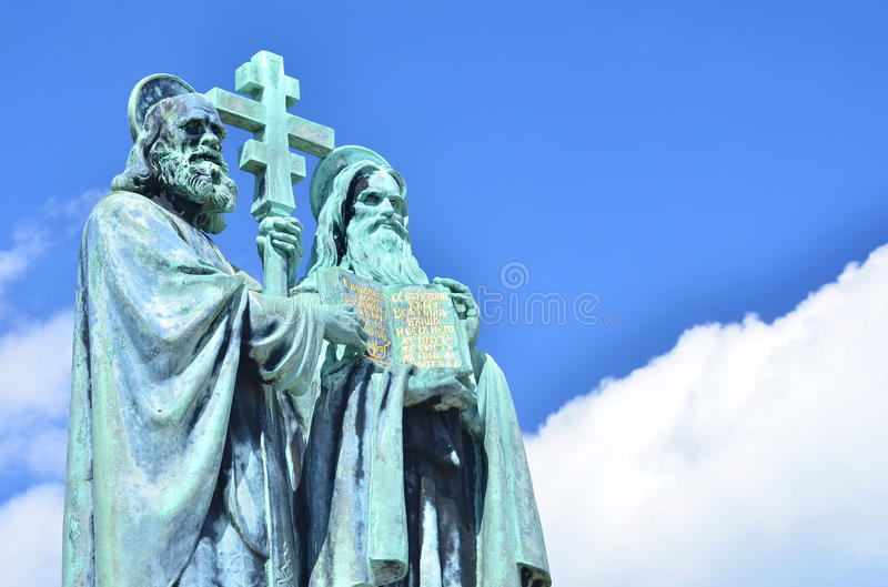 Heiligen Cyril en Methodius royalty-vrije stock fotografie