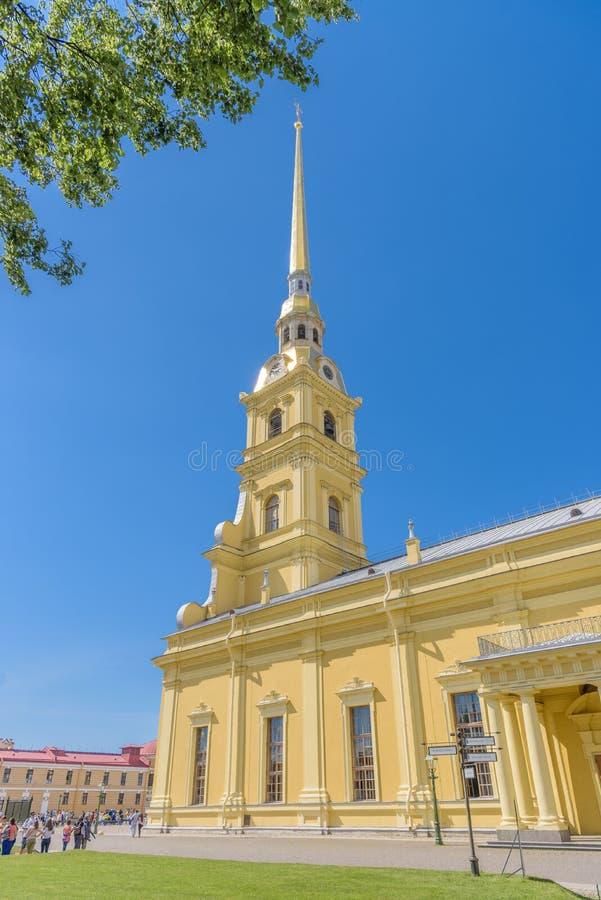 Heiligen Peter en Paul Cathedral in Heilige Petersburg, Rusland stock afbeeldingen