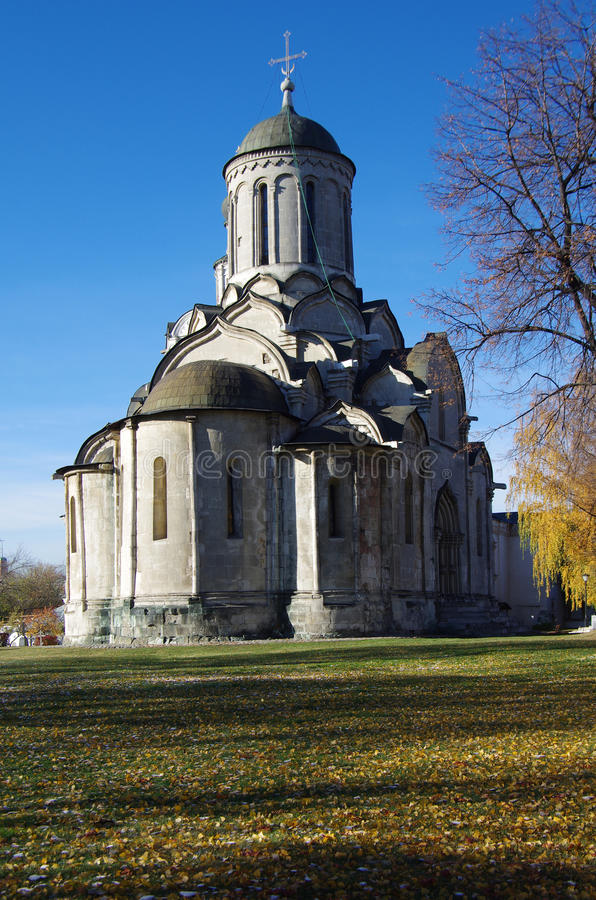 Heiliger Andronicus Monastery in Moskau stockfotos