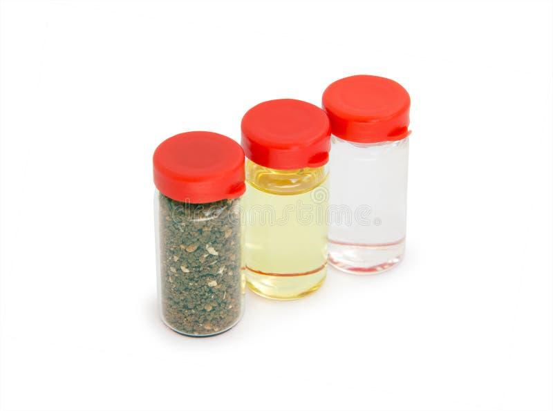 Heiliger Boden, Olivenöl und Weihwasser stockfoto