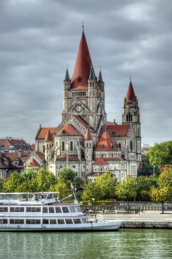 Download Church in Vienna stock image. Image of water, austria - 29707071