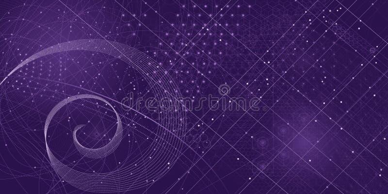 Heiliger Geometriesymbol- und -elementhintergrund lizenzfreie stockfotografie