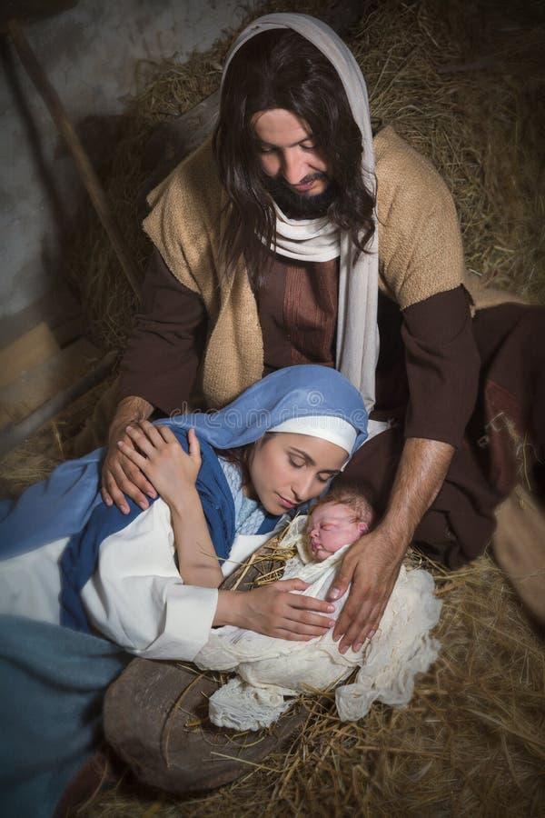Heiliger Jesus in der Krippe lizenzfreie stockfotos