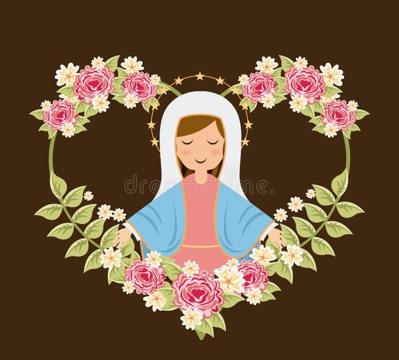 Heiliger Mary lizenzfreie abbildung