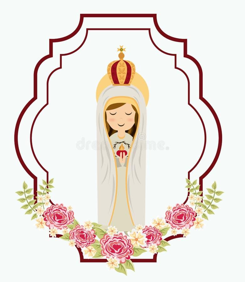Heiliger Mary vektor abbildung