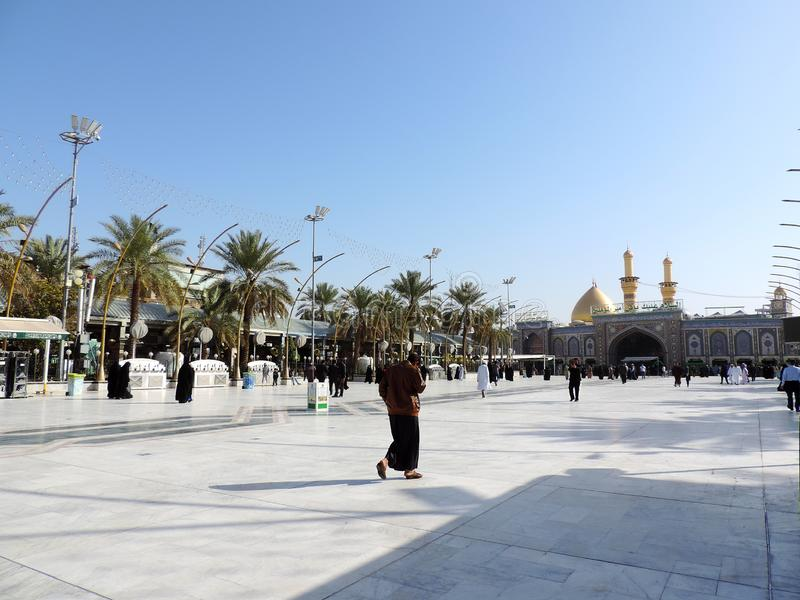 Heiliger Schrein von Abbas Ibn Ali, Kerbela, der Irak lizenzfreie stockfotografie