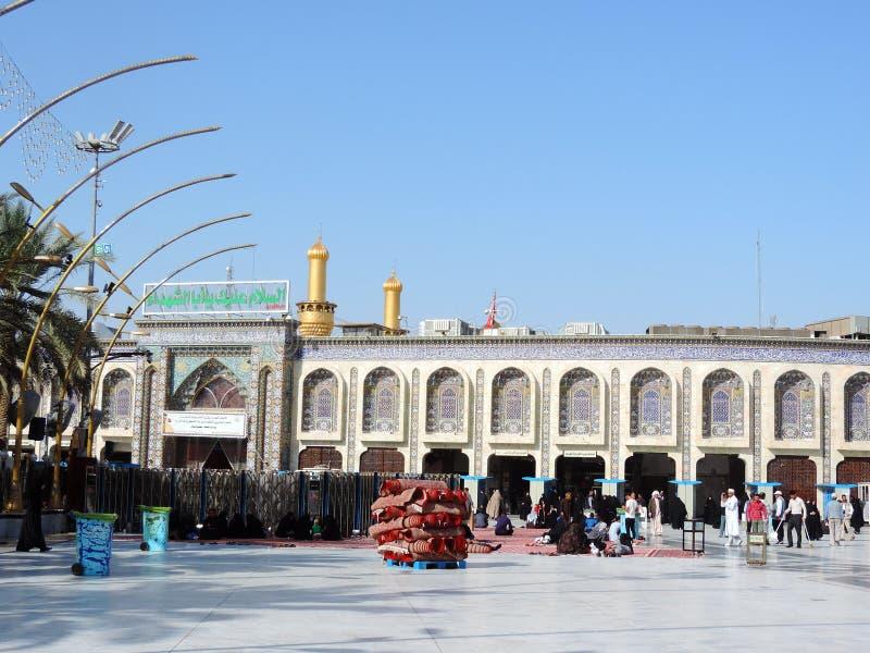 Heiliger Schrein von Husayn Ibn Ali, Kerbela, der Irak lizenzfreies stockfoto