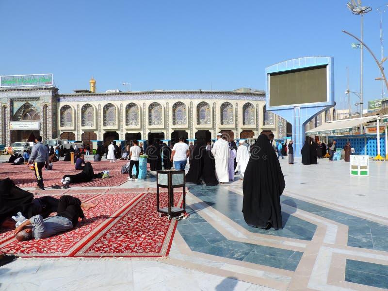 Heiliger Schrein von Husayn Ibn Ali, Kerbela, der Irak lizenzfreies stockbild