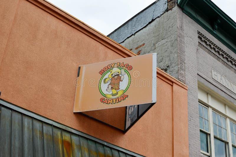 Heiliger Taco Cantina lizenzfreies stockfoto