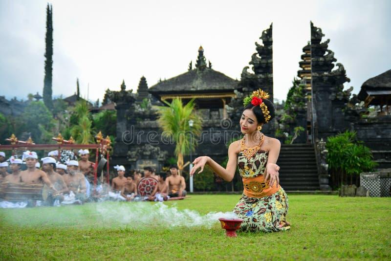 Heiliger Tanz balinese-Tänzer-Performing A stockbild