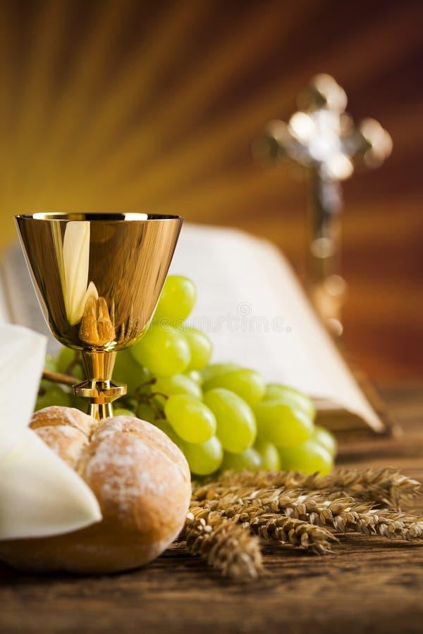 Heiliges Abendmahl, Sakrament des Kommunionshintergrundes lizenzfreie stockbilder