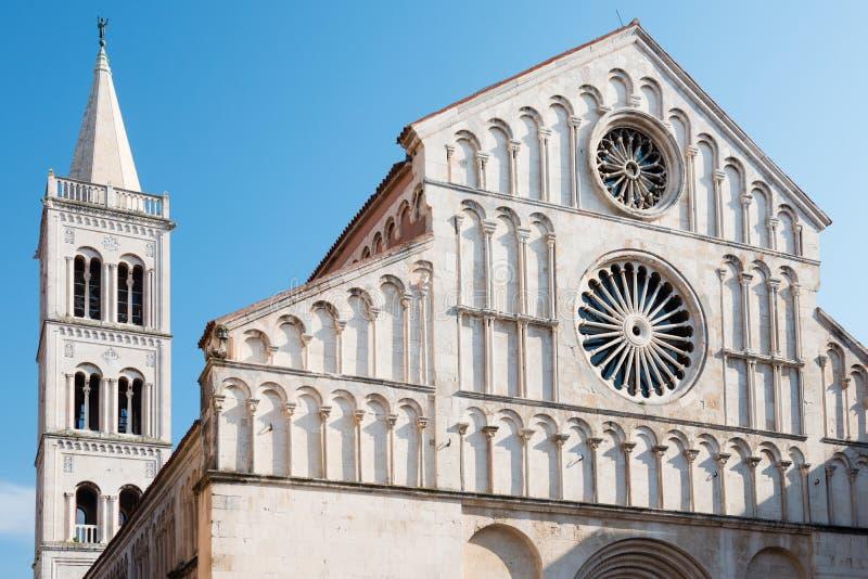 Heiliges Anastasia Cathedral, Zadar, Kroatien lizenzfreie stockfotos