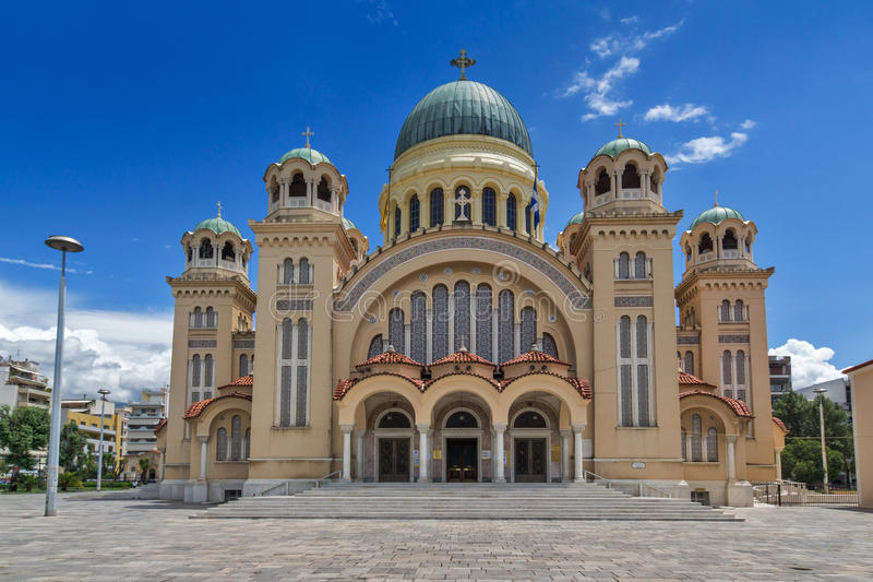 Heiliges Andrew Church, die größte Kirche in Griechenland, Patras, Peloponnes, Griechenland lizenzfreie stockfotos