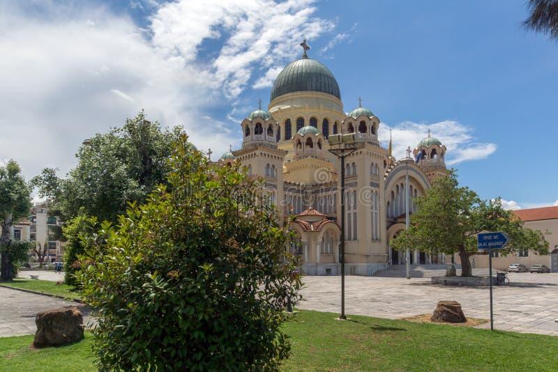 Heiliges Andrew Church, die größte Kirche in Griechenland, Patras, West-Griechenland stockfotografie