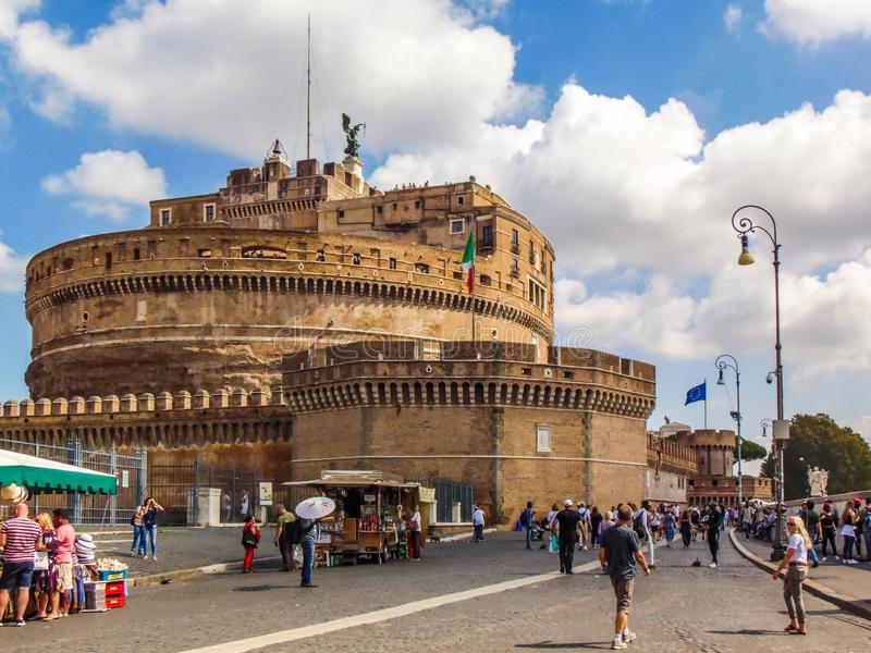 Heiliges Angel Castel, Rom stockfotos