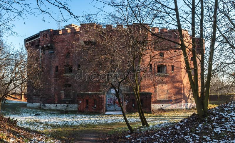 Heiliges Benedict Fort in Krakau stockbilder