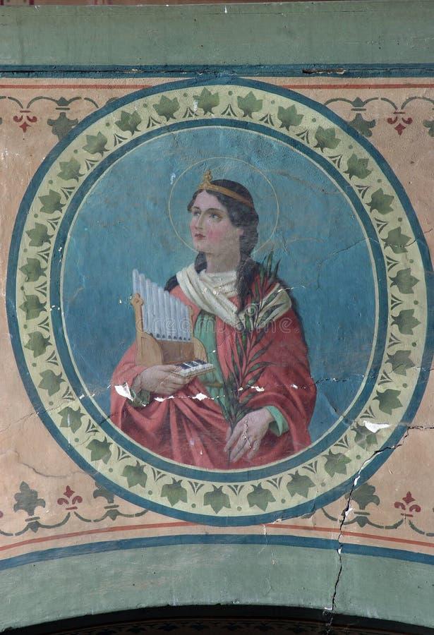 Heiliges Cecilia stockfotos