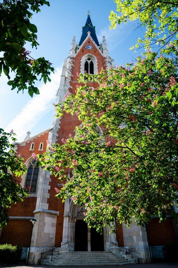 Heiliges Elisabeth-Gemeindekirche in Wien lizenzfreies stockfoto