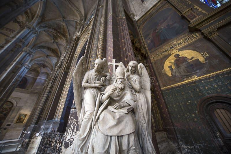 Heiliges Eustache-Kirche, Paris, Frankreich lizenzfreie stockfotos