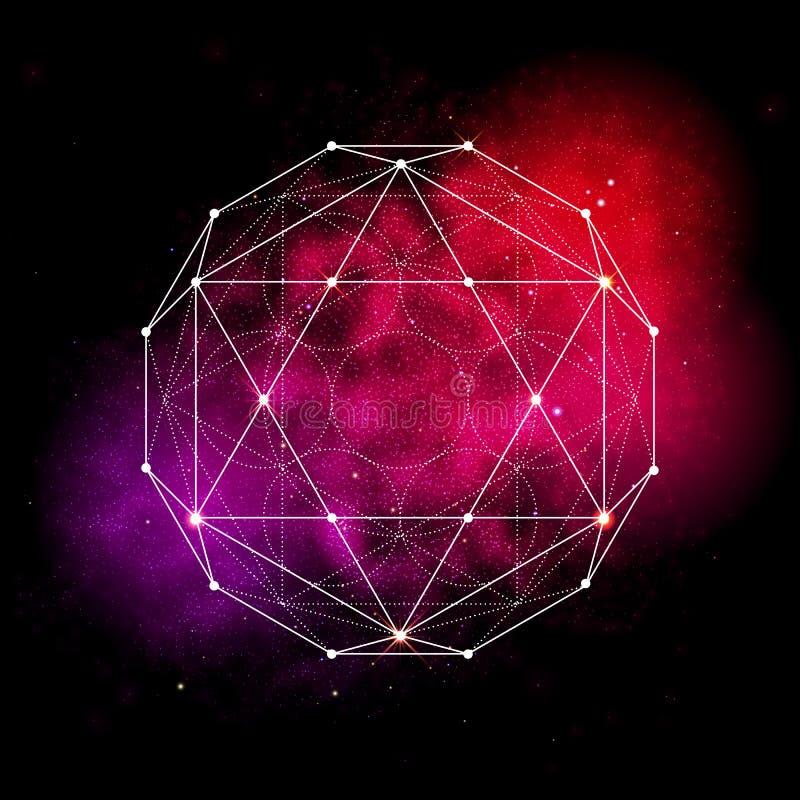 Heiliges Geometriesymbol Blume des Lebenzeichens lizenzfreie abbildung