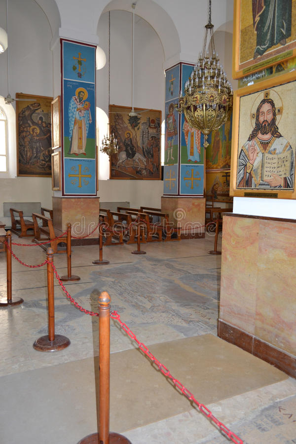 Heiliges George Greek Orthodox Church Interior stockbilder