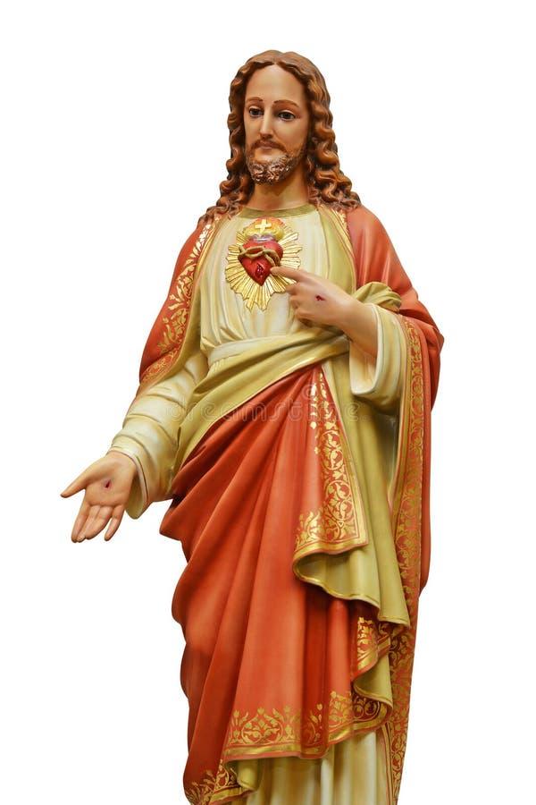 Heiliges Herz von Jesus-Statue lokalisiert lizenzfreie stockfotos