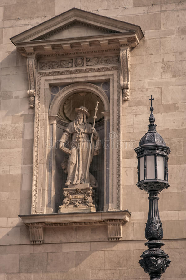 Heiliges Hieronymus-Skulptur stockfoto