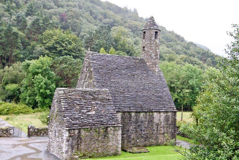 Heiliges Kevin Church Glendalough, Irland lizenzfreie stockfotos