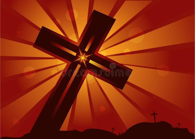 Heiliges Kreuz Christus stockfotografie