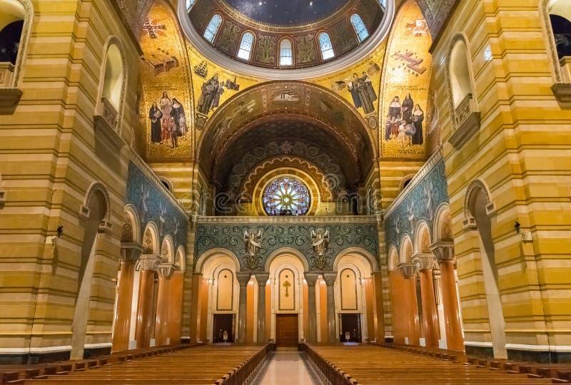 Heiliges Louis Basilica Rear Rose Window lizenzfreies stockfoto