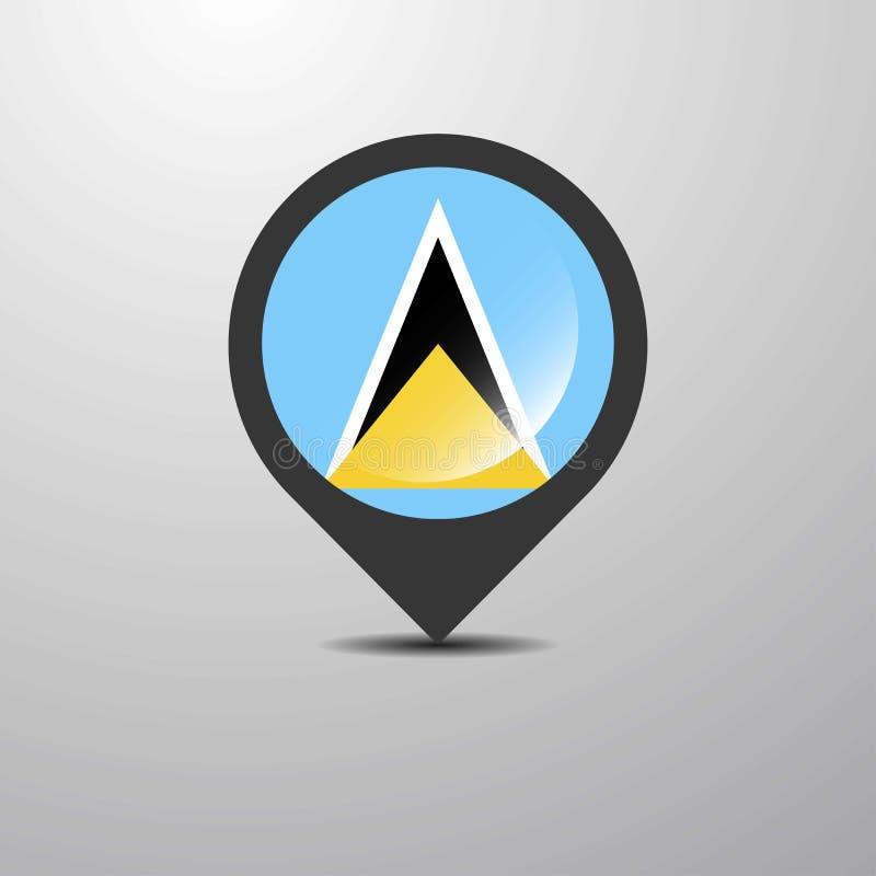 Heiliges Lucia Map Pin lizenzfreie abbildung
