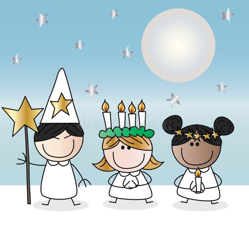 Heiliges Lucy oder sankta Lucia-Weihnachten stock abbildung