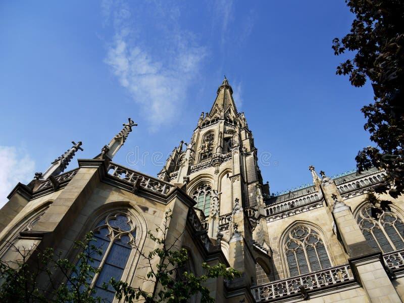 Heiliges Mary Cathedral, Linz, Österreich lizenzfreies stockfoto