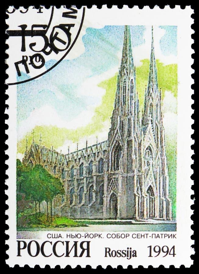 Heiliges Patrick Cathedral, New York, Architektur-Kirchen serie, circa 1994 stockbild