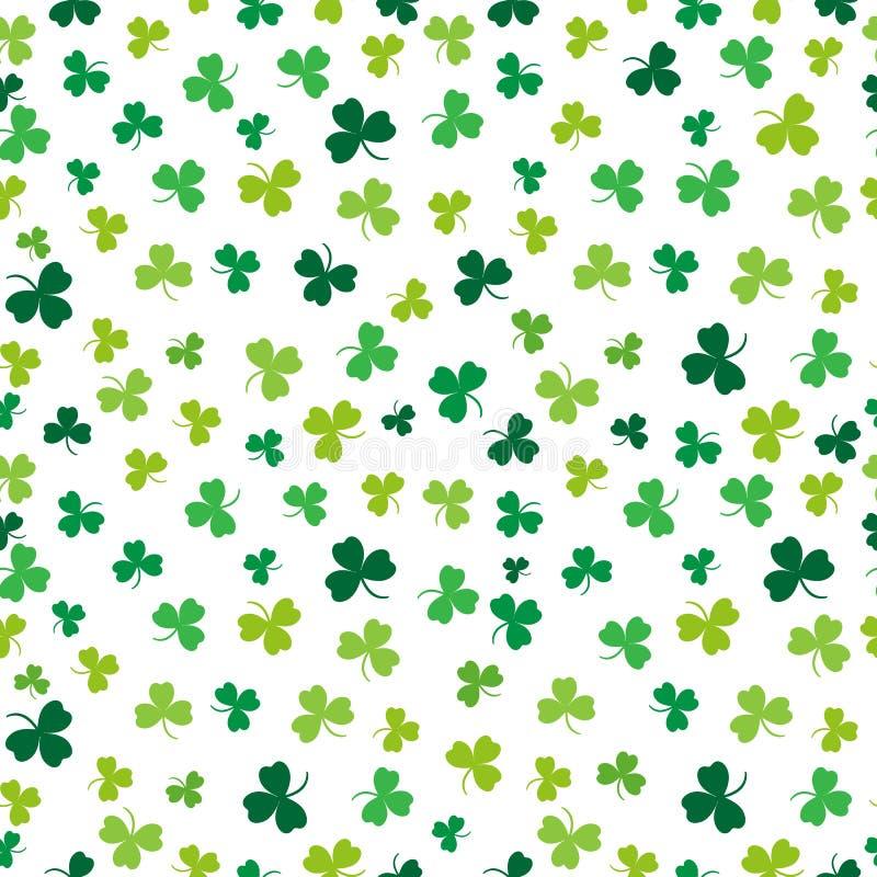 Heiliges Patricks Tag Nahtloses Muster Grüner Klee Vektor vektor abbildung