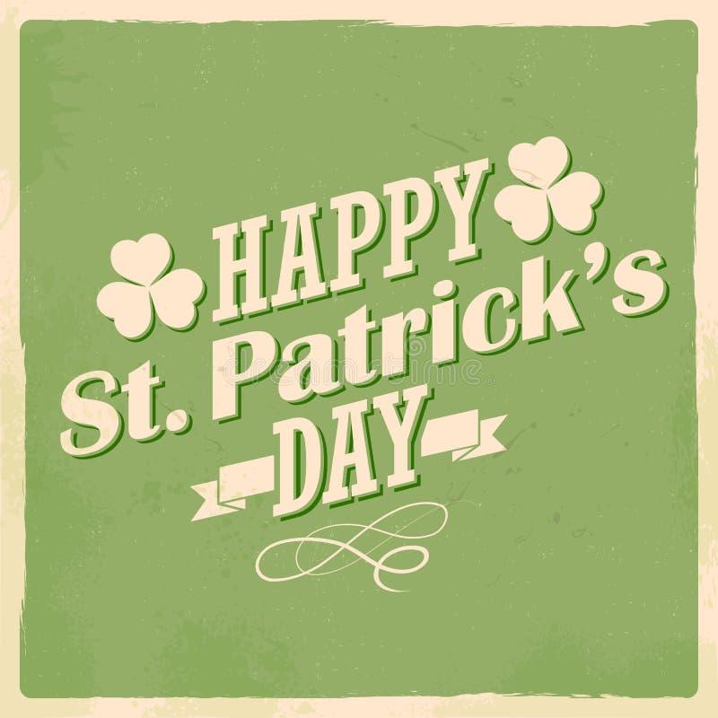 Heiliges Patricks-Tageshintergrund stock abbildung