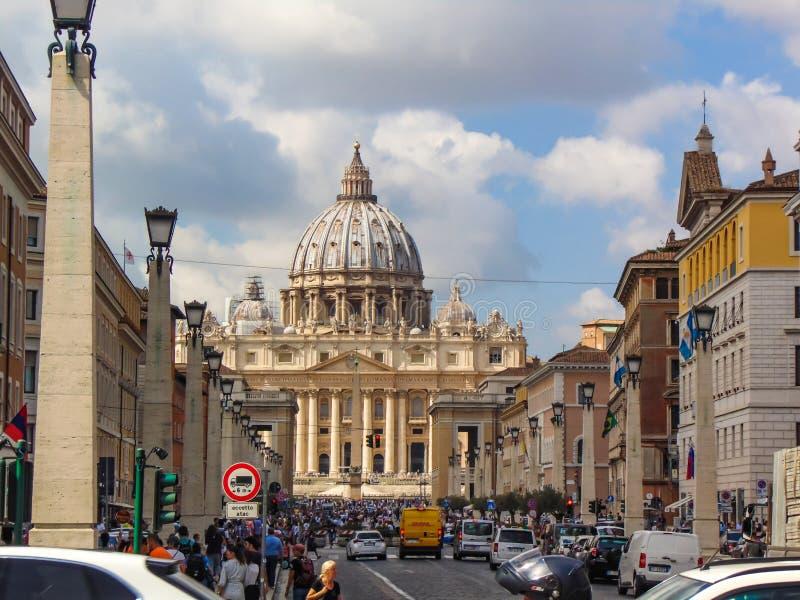 Heiliges Peter Basilica, Vatikan - Rom, Italien lizenzfreie stockbilder
