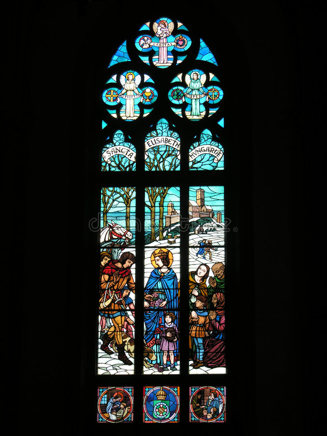 Heiliges Peter? s-Kathedrale stainded Glasfenster lizenzfreie stockbilder