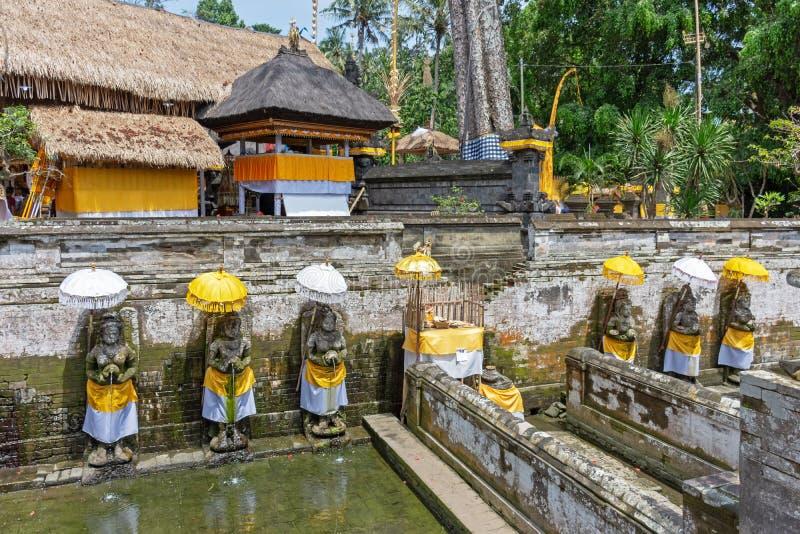 Heiliges Quellwasser an Tempel Goa Gajah stockfotografie