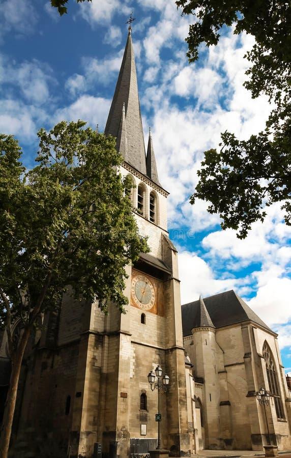 Heiliges Remy Church von Troyes in Frankreich, Aube stockbild