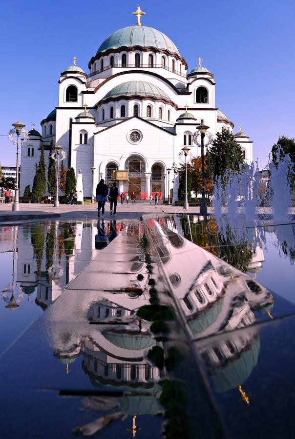 Heiliges Sava-Tempel in Belgrad stockfotos