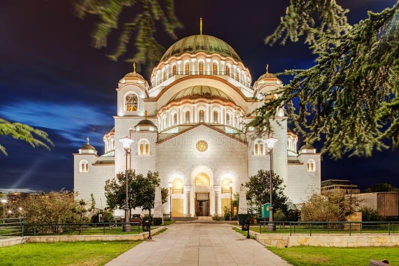 Heiliges Sava Temple lizenzfreie stockfotografie