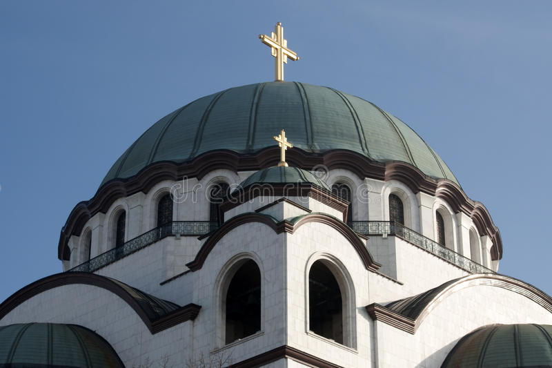 Heiliges Sava Temple lizenzfreie stockbilder