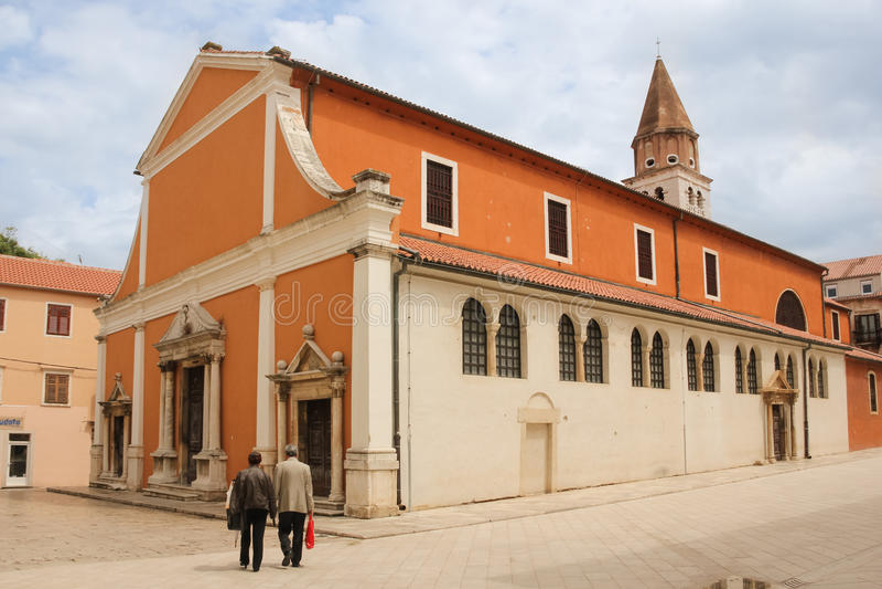 Heiliges Simeon-Kirche Zadar kroatien stockbilder